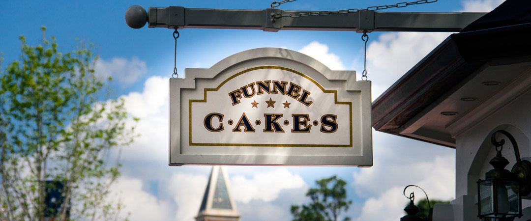 Funnel Cake Kiosk - Epcot's America Pavilion - WDW Dining