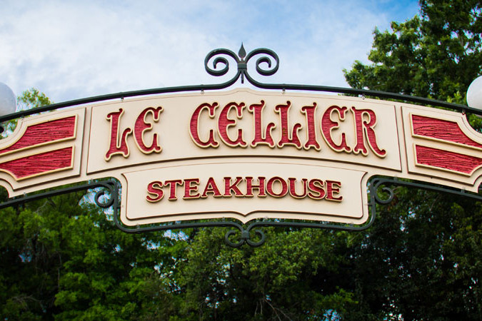 Le Cellier Sign - Epcot's Canada Pavilion - WDW Dining