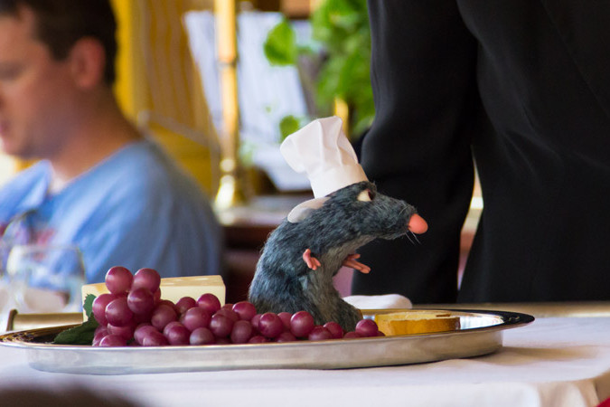 Remy from Ratatouille at Chefs de France in Epcot - Walt Disney World Dining