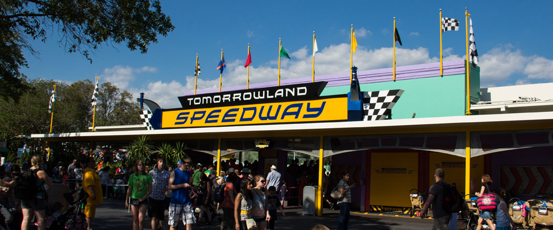 Tomorrowland Speedway Entrance - Magic Kingdom