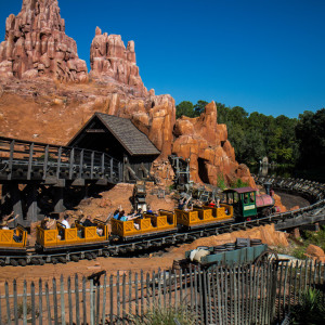 Big Thunder Mountain Railroad at Night