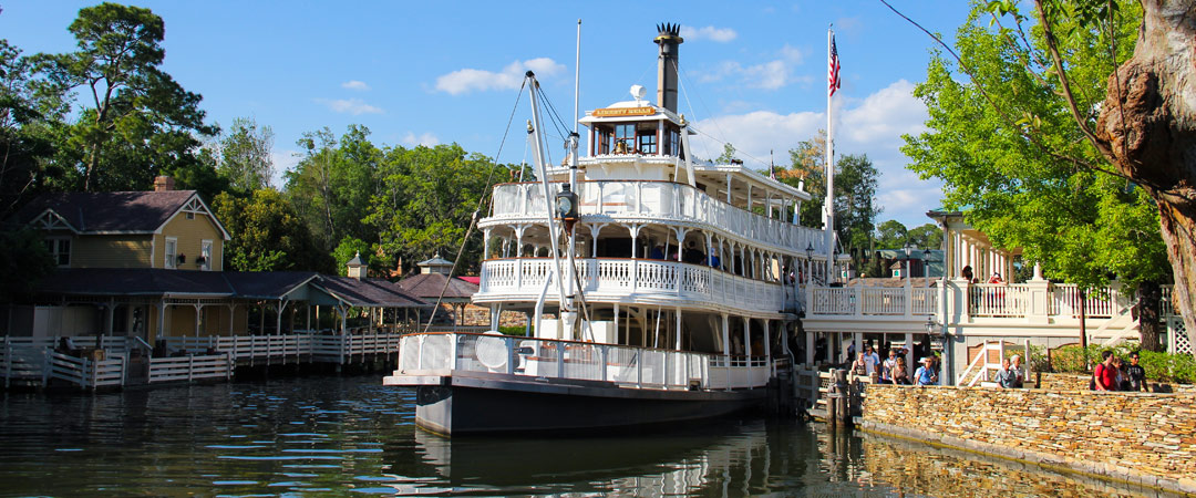 Liberty Square Riverboat at dock - Magic Kingdom