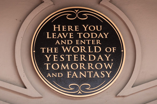 Here You Leave Today sign Disney World