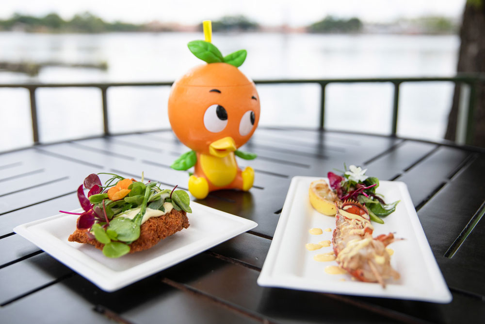 Orange Bird sipper and two entrees - Epcot International Food And Wine Festival