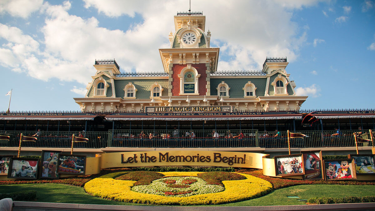 Magic Kingdom Entrance - Train Station