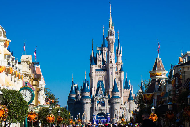 Magic Kingdom - Cinderella Castle and Main Street -Guide2WDW