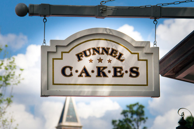 Funnel Cake Kiosk - Epcot's America Pavilion - WDW Dining