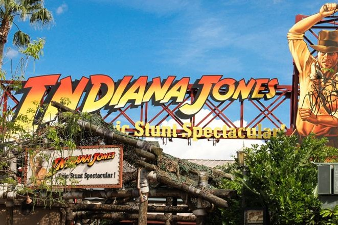 Indiana Jones Epic Stunt Spectacular - Sign - Disney's Hollywood Studios