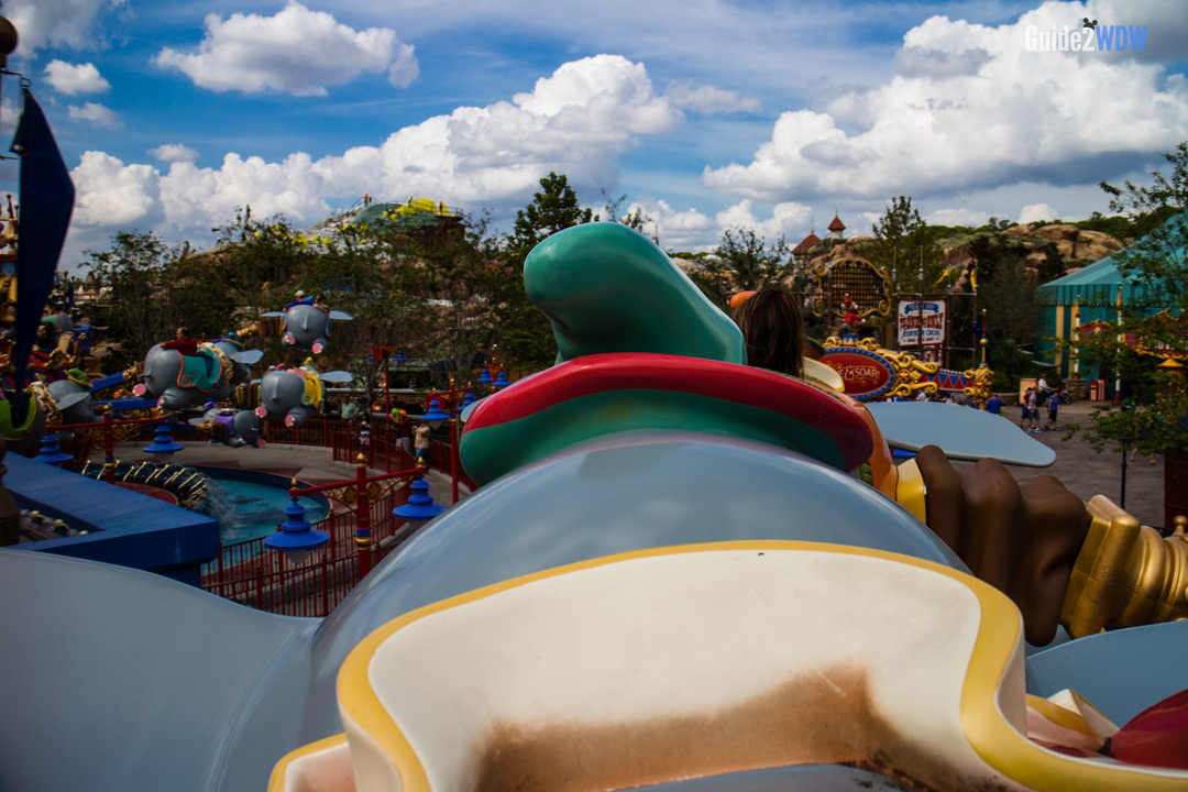 POV - Dumbo the Flying Elephant - Magic Kingdom-Attraction