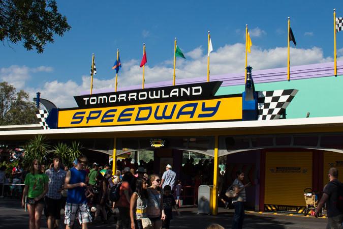 Tomorrowland Speedway Entrance - Magic Kingdom