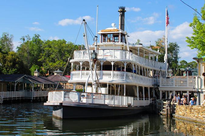 Liberty Square Riverboat at dock - Magic Kingdom
