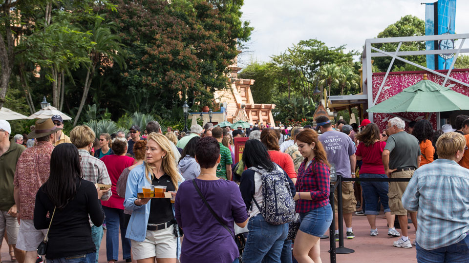 Epcot Crowd - Disney World