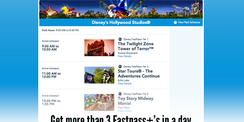 Get More than 3 Fastpass+ Reservations in a Day