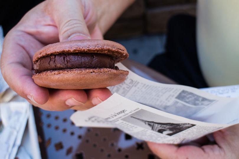 Macaron Ice Cream Sandwich - Epcot Dessert