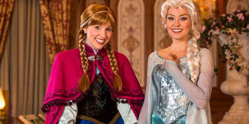 Anna & Elsa at Disney World