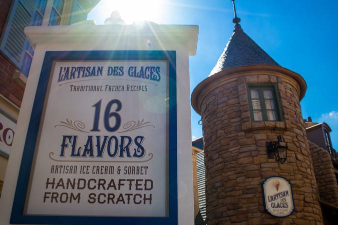 L'Artisan des Glaces - Epcot Dining - Disney World
