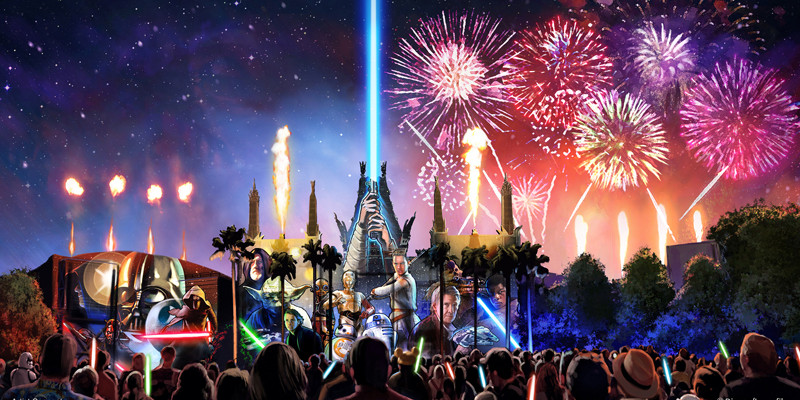 New Star Wars Fireworks at Disney World - Concept Art