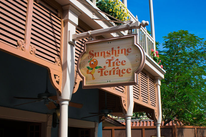 Sunshine Tree Terrace - Magic Kingdom Dining - Guide2WDW