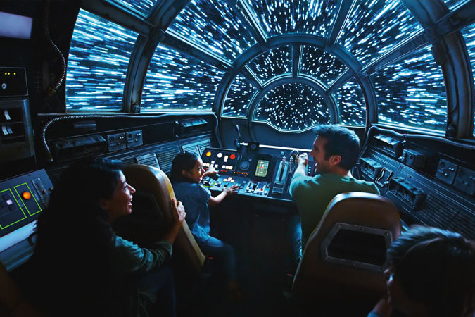 Star Wars Galaxys Edge - Ride- Millennium Falcon Smugglers Run