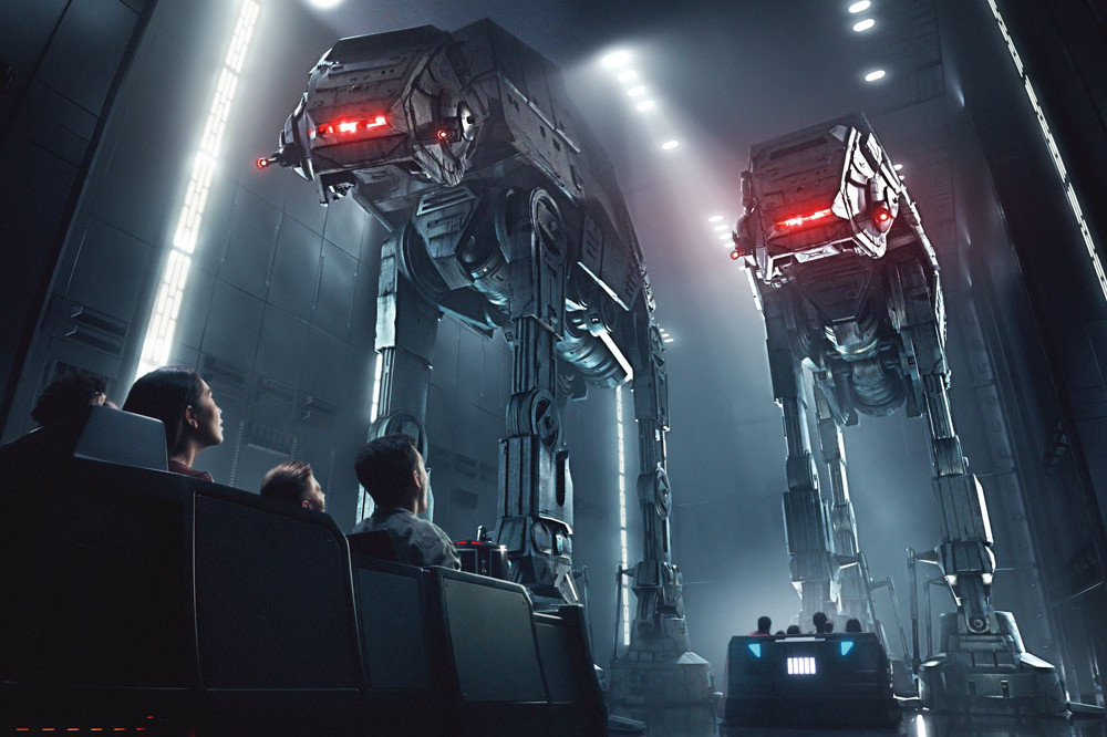 Star Wars Galaxy's Edge - Rise of the Resistance - AT-ATs
