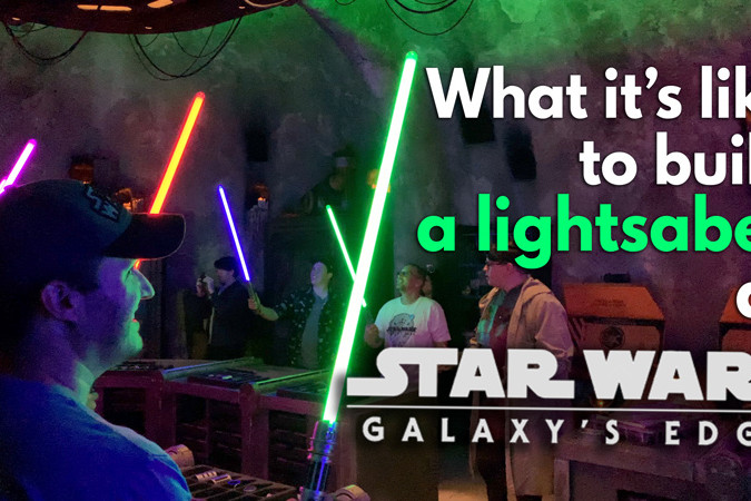 Savi's Lightsaber Building Video - Disneyland