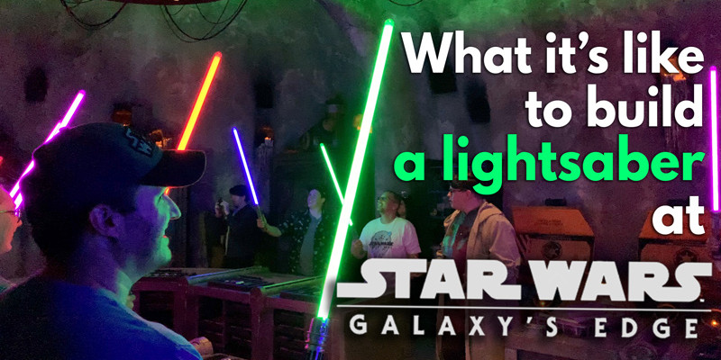 Savi's Lightsaber Building Video - Disneyland