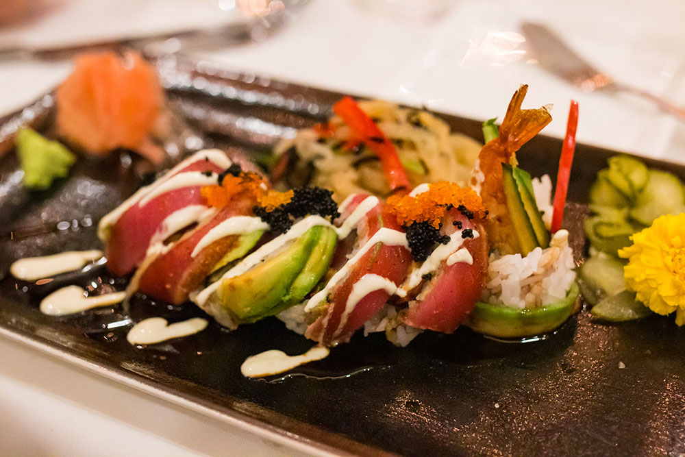 California Grill Lounge Sushi Roll - Disney World's Best Bars - Guide2WDW