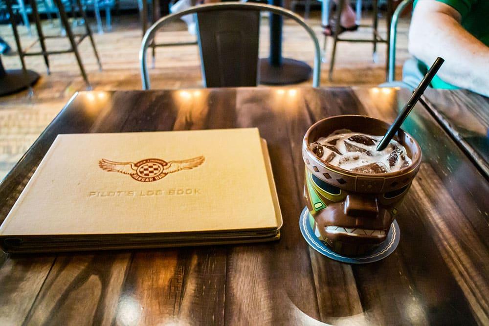 Jock Lindsey's Hangar Bar Monkey Head Drink - Disney World's Best Bars - Guide2WDW