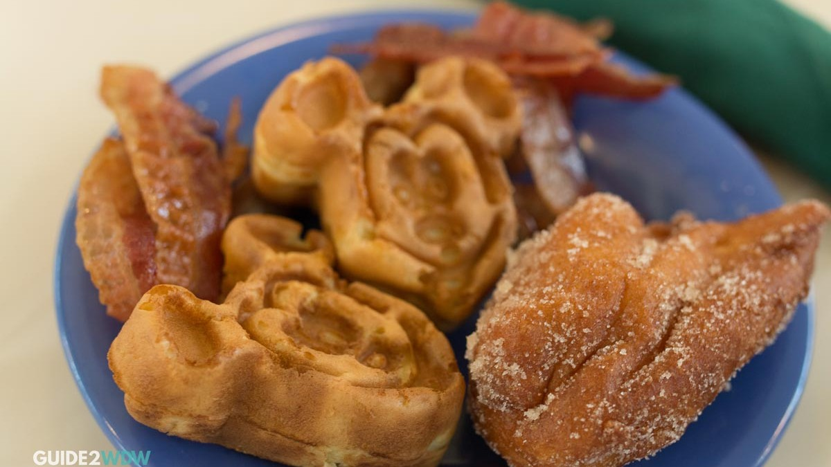 Mickey Waffle - Breakfast at Disney World