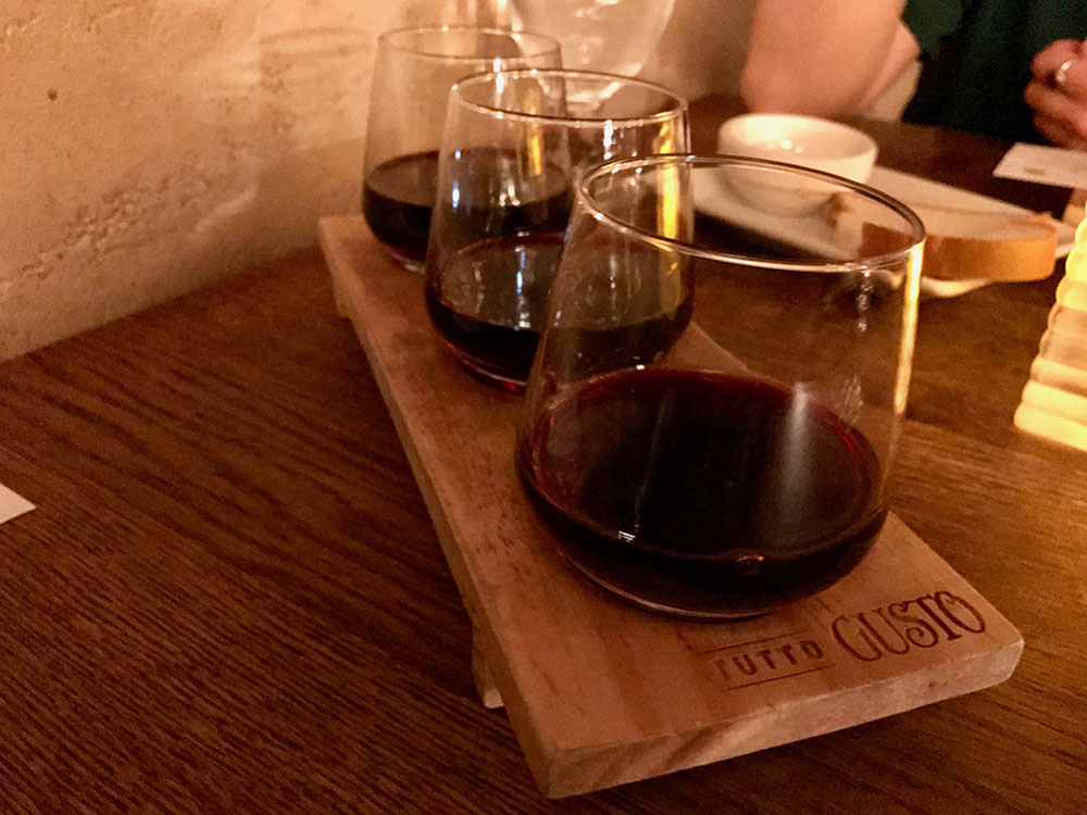 Tutto Gusto Wine Flight - Disney World's Best Bars - Guide2WDW