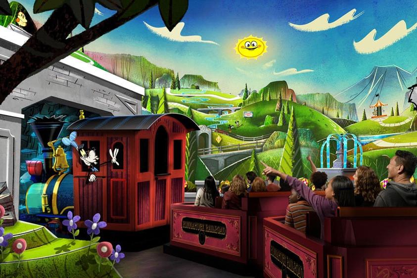 Mickey and Minnie's Runaway Railway - Hollywood Studios Attraction