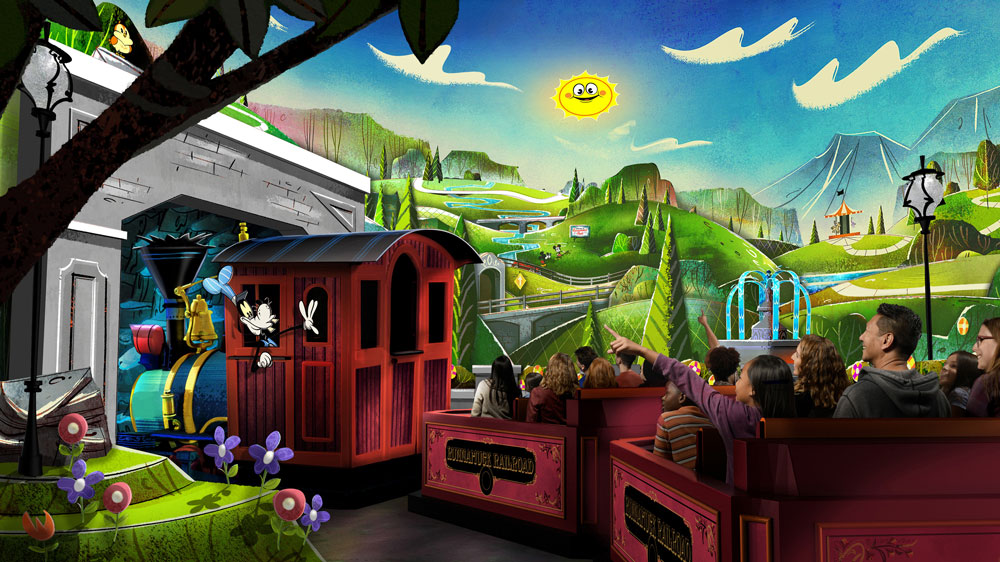 Mickey and Minnie's Runaway Railway - Hollywood Studios Attraction