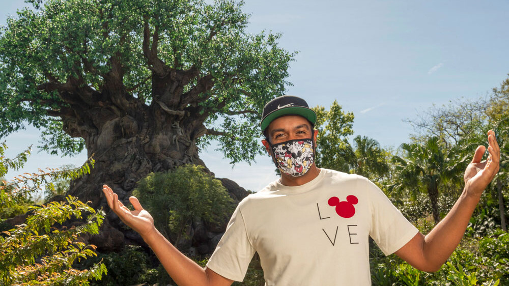 Tony Finau at Disney World