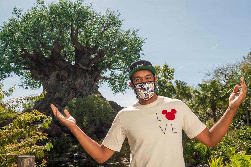 Tony Finau at Disney World