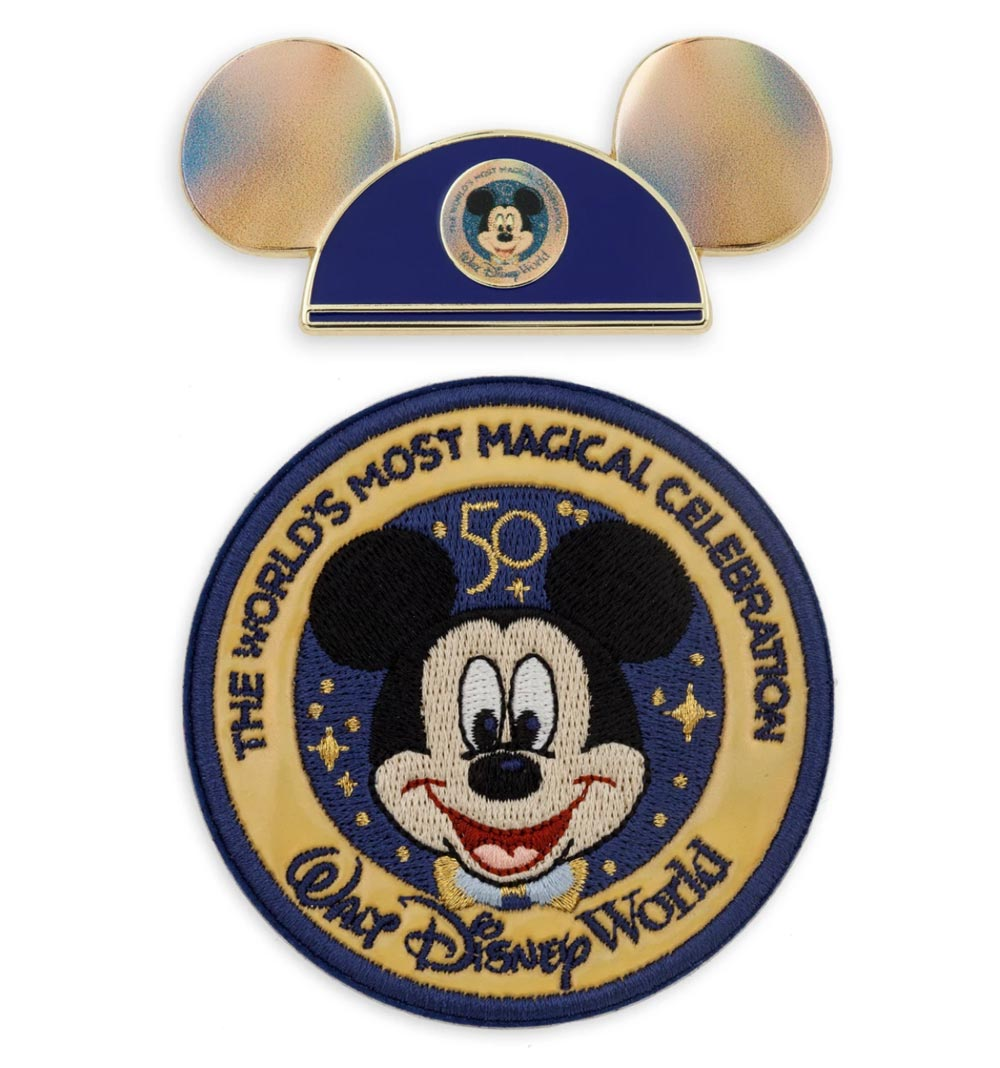 Mickey Mouse Pin and Hat - 50th Anniversary Merchandise