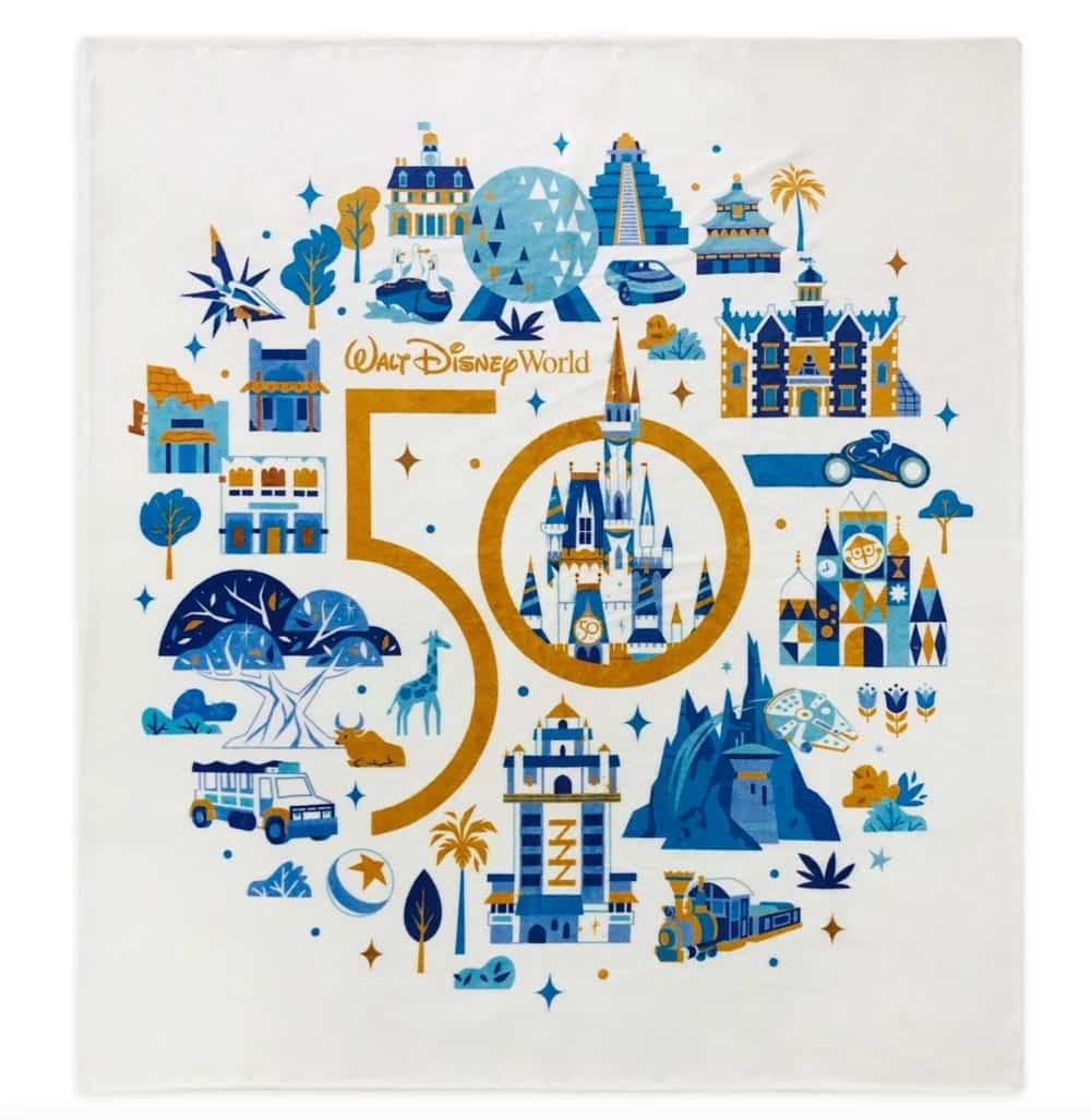 WDW Fleece Blanket - 50th Anniversary